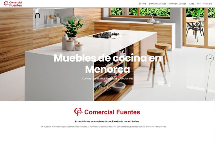 Muebles de cocina en Menorca. Comercial Fuentes